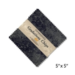 Stonehenge Gradations Chips Graphite Charm Pack, Northcott