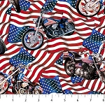 Liberty Ride DP23431 44 Flags Motorcycles Digital, Northcott