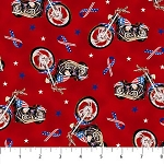 Liberty Ride DP23433 24 Red Motorcycles Digital, Northcott