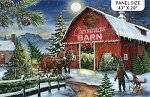 Christmas Wish DP23463 44 Barn Horses Digital Panel, Northcott