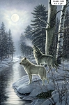 Silver Moon DP23656 42 Naturescapes Digital Wolf Panel, Northcott