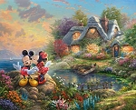 Disney Dreams DS20229C1 Sweetheart Cove Digital Panel, David Textiles