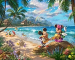 Disney Mickey Minnie Hawaii DS20499C1 Digital 36 Inch Panel, David Textiles