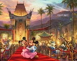 Disney Dreams DS20519C1 In Hollywood Digital Panel Thomas Kincaid David Textiles