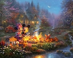 Disney Dreams DS20529C1 Sweetheart Campfile Digital Panel, David Textiles