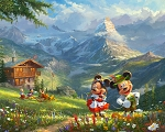 Disney Dreams DS20689C1 In the Alps Digital Panel Thomas Kincaid David Textiles