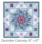 Sweet Dreams December Digital Panel Small Quilt Kit, Hoffman
