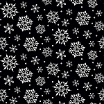 Gnome for Christmas FLANNEL F10612 Black Snowflakes Riley Blake