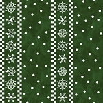 Gnome for Christmas FLANNEL F10613 Green Nordic Stripes