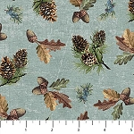 Outdoors Adventure Flannel F23189 63 Pinecone Toss Blue Northcott