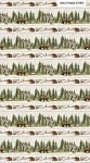 Lakeside Lodge Flannel F23554 92 Border, Northcott