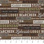 Lakeside Lodge Flannel F23556 36 Words, Northcott