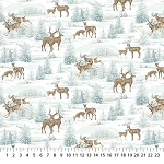 Frosted Woodland Flannel F23629 42 Deer Forest, Northcott