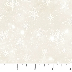 Frosted Woodland Flannel F23633 12 Cream Snowflakes, Northcott