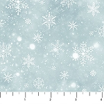 Frosted Woodland Flannel F23633 44 Blue Snowflakes, Northcott