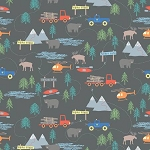 Forest Scene Flannel F7798 Gray, Riley Blake