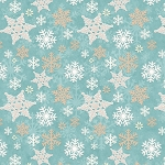 I Love Snow Gnomies Flannel F9636 11 Aqua Snowflake Henry Glass