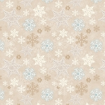 I Love Snow Gnomies Flannel F9636 33 Beige Snowflake Henry Glass