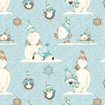 I Love Snow Gnomies Flannel F9637 11 Polar Bear Gnomes Henry Glass