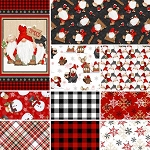 Gnomies Flannel Yard and Panel Collection, Henry Glass
