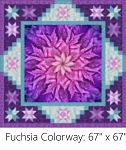 A Sweet Dreams Fuchsia Digital Panel Small Quilt Kit, Hoffman