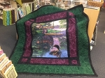 Paneloony Digital Panel Loon Cabin Quilt Kit