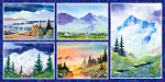 Majestic Mountains Digital Panel M3199, P and B Textiles