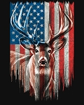 Patriotic Deer American Flag ML31340C1 Digital Panel David Textiles