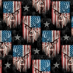 Patriotic Deer ML31399C1 Digital Print David Textiles