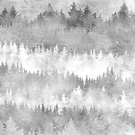 Painted Forest MRD4 410 Trees Grey Digital, McKenna Ryan by Hoffman