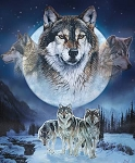 Natures Finest P9952 Wolf Digital Panel, Riley Blake