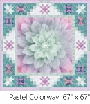 A Sweet Dreams Pastel Digital Panel Small Quilt Kit, Hoffman