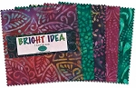 Bright Idea 10 Inch Batik Squares, Wilmington Prints
