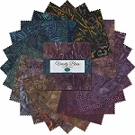 Wilmington Prints 10 Inch Layer Cake Squares Fall Batiks Varsity Blues