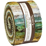 Wildlife Sanctuary 6 Batik Roll Up Jelly Roll Strips, Robert Kaufman