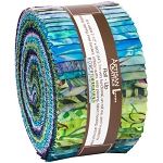 Serenity Lake Batik Jelly Roll Strips, Robert Kaufman