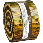 Fossils and Rocks Artisan Batik Jelly Roll Robert Kaufman
