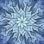 Dream Big Leaf Digital Panel R4617 621 Arctic Blue, Hoffman