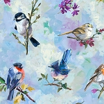 Treetop Painted Birds R4624 554 Digital Print, Hoffman