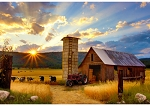 Sun Up to Sundown Digital R4689 83 Farm Barn Panel, Hoffman