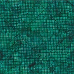 Hoffman Bali Batik S2305 702 Deep Emerald Cross Grid
