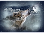 Call of the Wild S4720 524 Moonstruck Wolf Digital Panel, Hoffman