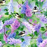 Spring Song S4767 145 Chickadee Lilacs Digital Hoffman