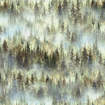 Woodland Whispers S4845 44 Misted Trees Digital Hoffman