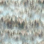 Woodland Whispers S4845 521 Misted Trees Digital Hoffman