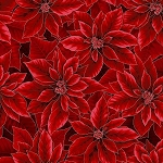 Holiday Decadence S7702 10S Crimson Silver poinsettia, Hoffman