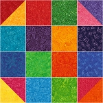 Timeless Treasures 10 Inch Squares Dazzle Shortcake
