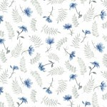 Spring Blue 4133 B Light Small Tossed Flowers, P & B Textiles