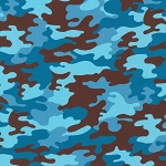 Camo Digital 20272 4 Blue Robert Kaufman