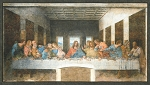 Leonardo Da Vinci Last Supper Panel 20095 199 Antique Robert Kaufman